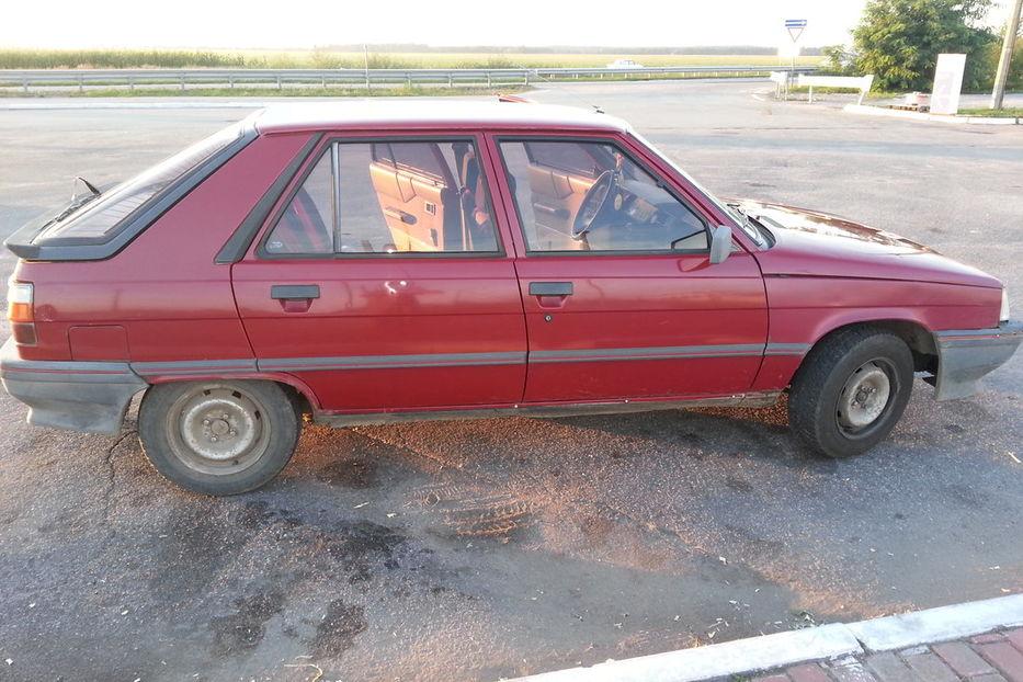 renault 11 1987 года седан фото